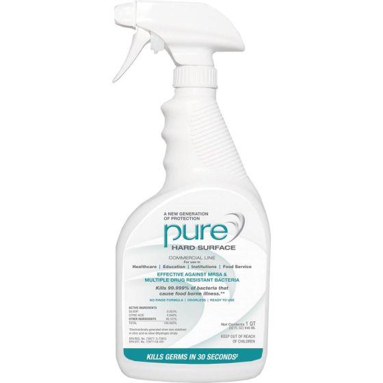 PURE® Hard Surface Disinfectant Sanitizer– 32 oz, Case/12, 2 Sprayers