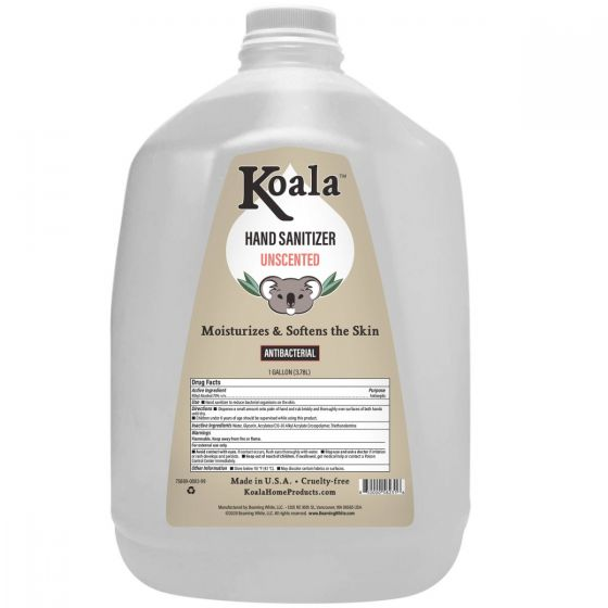 Koala™ Hand Sanitizer Gallon - Unscented