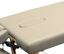 Custom Craftworks™ Table Upgrade - Crescent Face Hole with Pillow and Plug