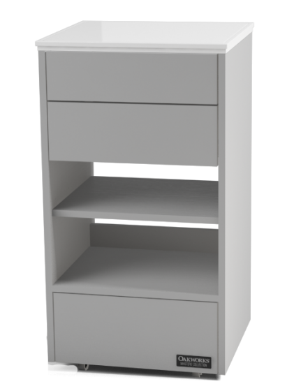 OAKWORKS® Masters Collection Halo Slimline Trolley with 3 Drawers