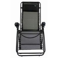 Reclining Reflexology Chair - Ergonomic Folding Recliner in Black