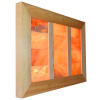 Saltability Himalayan Salt Panel in Cedar Frame with Bricks
