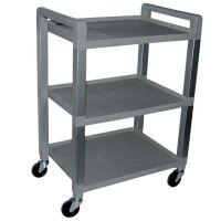 Gray 3 Shelf Poly Cart Luxor