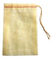 "Muslin Cloth Plain Drawstring Bag 4X6"""