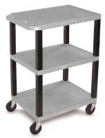 """34"""" Shelf Cart - Gray"""
